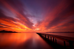 Easy (scott masterton) Tags: light seascape reflection water sunrise scott pier spain long exposure pentax jetty coastal embarcadero getty mallorca fascinating baleares masterton alcudia balearic sigma1020mm k100d