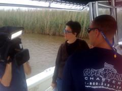 """lighting"" the shot (The Rachel Maddow Show) Tags: louisiana msnbc marshes rachelmaddow therachelmaddowshow"