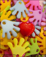 Hands Off My Heart () (Hotpix [LRPS] Hanx for 1.5M Views) Tags: blue red colour art colors yellow hands hand arty heart off colores plastic primary soe hotpix