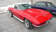 Chevrolet Corvette Sting Ray (Ilia Goranov) Tags: red classic chevrolet car vintage germany deutschland stingray retro vehicle corvette                 shtuttgart