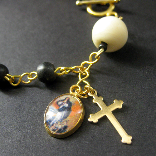 Sacred Vow Rosary Bracelet in Bone