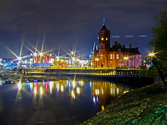 Pierhead. (M.R.7) Tags: longexposure reflections explore cardiffbay wfc mhr pierheadbuilding welshflickrcymru mikerees canons90