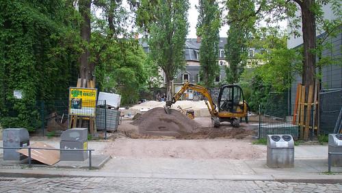 Bauarbeiten am Spielplatz an der Talstraße