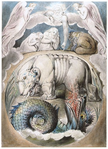 William Blake, Behemoth and Leviathan Watercolour