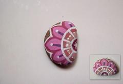 pinky bean () Tags: rock painting acrylic handmade pebble dawanda