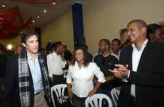 Pedro Passos Coelho na reunião com a comunidades imigrantes na Amadora