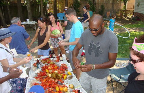 Louisiana crawfish boil, Shreveport  by trudeau