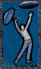 Umbrella man (alfredopompilio) Tags: arte alfredo artworks italianart figura dipinti opere pompilio