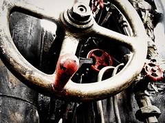 The machine (jimiliop) Tags: old light black wheel train handle gold antique hard machine dirt valves soe helm blueribbonwinner supershot mywinners anawesomeshot theunforgettablepictures goldstaraward
