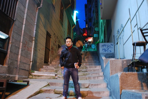 Steep way up to Galata Tower