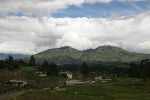 Rolling farmland in central Ecuador...
