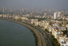Marine drive from Reopend Trident Hotel after the terror attack (E R) Tags: india skyline bombay maharashtra mumbai slum urbandevelopment marinedrive seaface arabiansea narimanpoint mumbaiskyline mumbaicity tridenthotel mumbaislum mumbairealestate mumbaicityscape mumbaihighrise