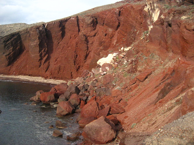 Excursion Around Santorini: Red Beach