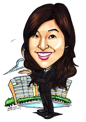 Caricature of property agent - Tiffany A4