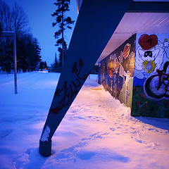 (-Antoine-) Tags: park blue trees winter snow canada building tree nature angel night forest square graffiti quebec snowy hiver ange sigma bleu arbres qubec hour invierno neige 1020mm 2008 1020 nuit foret arbre parc saguenay gauthier fort pavillon chicoutimi heure bleue taiga graffitis edifice wintery graffs sigma1020mm carre sigma1020 taga rosaire hivernal rosairegauthier saguenaylacstjean saguenaylacsaintjean rosairegaut0167 tagraff tagraffs taigraff taigraffs