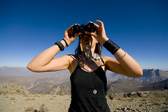Oman588 (jjay69) Tags: mountains gulf view muslim islam middleeast arabic binoculars arab oman peer gcc islamic arabi sultanateofoman muslimcountry womanwithbinoculars girllooksthroughbinoculars