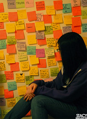 Day 023/365: The Truth Is... (stacymagallon) Tags: wall project 365 postits day023 thetruthis 365days stacymagallon