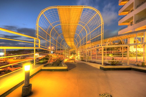 Hotel Walkway at Sunset