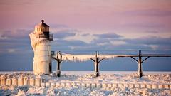 Masters of Light (jrobfoto.com) Tags: winter light lighthouse house lake snow ice saint evening pier flickr dusk michigan clay icicle catwalk josephs willard sait omot jonathanrobsonphotographycom vosplusbellesphotos viapixelpipe