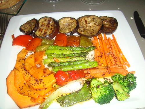Verduras de temporada a la parrilla