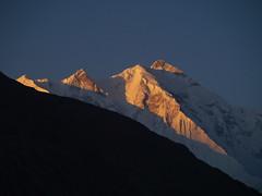 sunrise view raksposhi from ganish (Mumtaz Haider) Tags: hunza qasim ganish mumtaz
