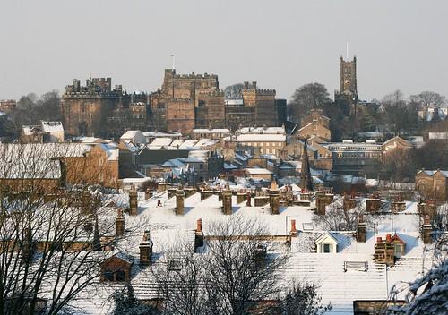 Lancaster castle snow