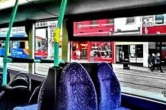 church street (Harry Halibut) Tags: road street blue red orange bus green church lines yellow sheffield tracks tram images seats rails mauve stagecoach allrightsreserved supertram colourbysoftwarelaziness sheff090201028 imagesofsheffield andrewpettigrew