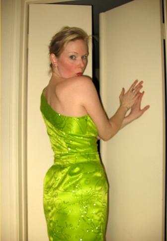 green dress booty