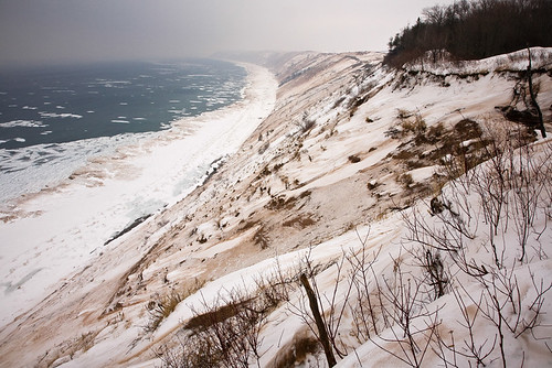 Grand Sable Dunes In Winter
