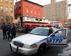 NYPD and FDNY, Harlem, New York City (jag9889) Tags: county city nyc blue rescue ny newyork cars fire 1 cops harlem manhattan police nypd company borough trucks fdny 2009 department firefighters lawenforcement finest officers bravest firstresponders rescue1 newyorkcitypolicedepartment 116street y2009 jag9889
