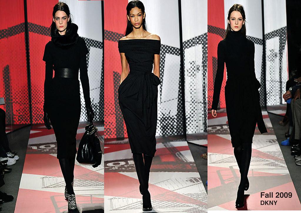 DKNY-Black Dresses