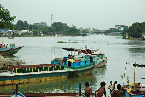 Boats and people on the Turag River, Dha by Wonderlane, on Flickr
