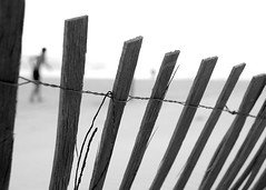 Our memories of the ocean will linger on, long after our footprints in the sand are gone. (.I Travel East.) Tags: white black beach monochrome fence blackwhite nikon dof alabama monotone gulfshores picketfence nikkor18200mmvr nikond700 ourmemoriesoftheoceanwilllingeron longafterourfootprintsinthesandaregone