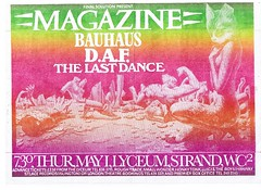 Magazine, Bauhaus, DAF & The Last Dance at the Lyceum London 1981! (Superbawestside1980) Tags: flyer punk post