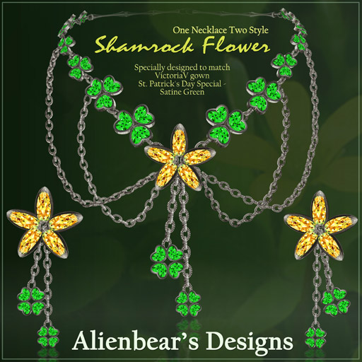 Shamrock flowers green- yellow