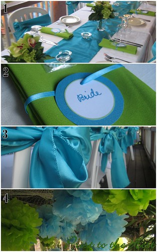 A Lime Green and Turqoise Wedding Turquoise and lime green are bright and