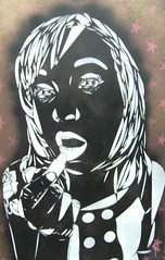 lipstick nikki (black mist) (T  3) Tags: street wood uk urban art paper studio table graffiti stencil paint artist acrylic board banksy spray canvas painter spraypaint t3 edition spraycan t3art t3arts t3artcouk