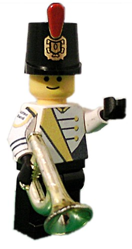 Marching Band trumpeter cutom minifig