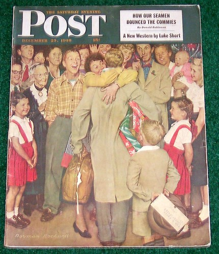 Christmas Homecoming Rockwell.Saturday Evening Post Norman Rockwell Christmas 1948