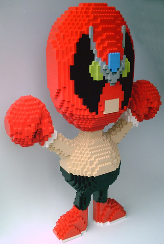 LEGO Strong Bad sculpture