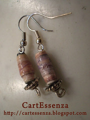 orecchini_perle di carta_rosa.jpg (CartEssenza) Tags: handmade earrings paperbeads orecchini riciclo cartessenza