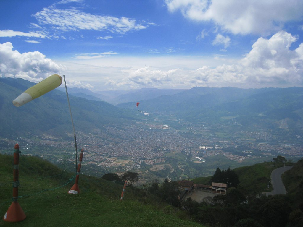 A 25-minute tandem paragliding flight can cost as little as $50 (USD) just outside Medellin.