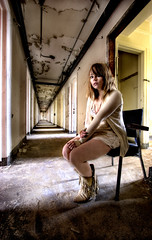 (chasingcars36) Tags: chicago illinois chair decay corridor hallway urbanexploration southside peelingpaint urbex abandonedhospital cariann yyellowbird