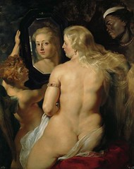 Venus At A Mirror by Peter Paul Rubens-1615
