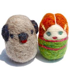 Multicultural Egg Friends (asherjasper) Tags: boy dog wool girl felted children toy miniature waldorf eggs multicultural eggcarton naturalkidsteam humanfiguredoll