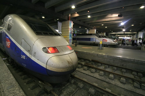 TGVs at Gare de Montparnasse