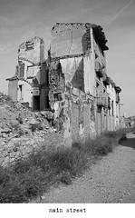 main street (S. Lo) Tags: bw espaa spain ruins mainstreet civilwar belchite aragn spanishwar