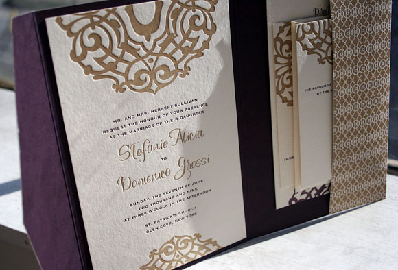 Beautiful Custom Lashar Invitation with Pocketfold