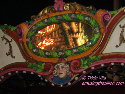 Medallion on Butler Amusements Carousel in Coney Island. Photo © Tricia Vita/me-myself-i via flickr