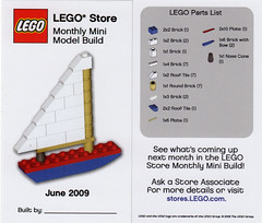 LEGO Store MMMB - June 2009 (Sailboat) (TooMuchDew) Tags: june sailboat boat lego legostore toyboat legoimaginationcenter legoinstructions mmmb toomuchdew monthlyminimodelbuild licmoa minimodellbauevent
